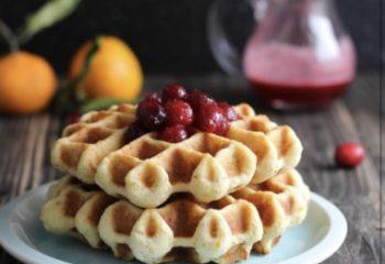 Cranberry-Orange Protein Waffles