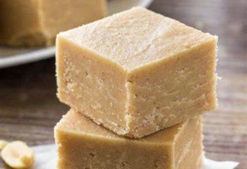 Vanilla Peanut Butter Keto Fudge