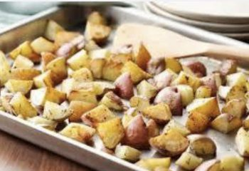 Diced And Roasted Red Potato