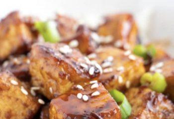 Ginger Glazed Tofu w/ Fried Rice- Vegan