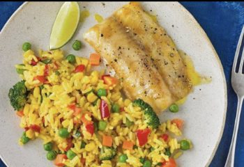 Ginger Glazed Tilapia w/ Fried Rice-Muscle Gain