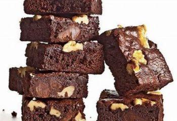 Double Fudge Walnut Protein Brownies